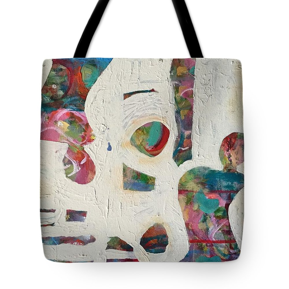 Women Tote Bag featuring the painting Worldly Women by Gail Butters Cohen