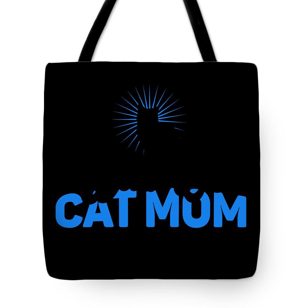 Cat Tote Bag featuring the digital art Worlds Best Cat Mom by Kaylin Watchorn