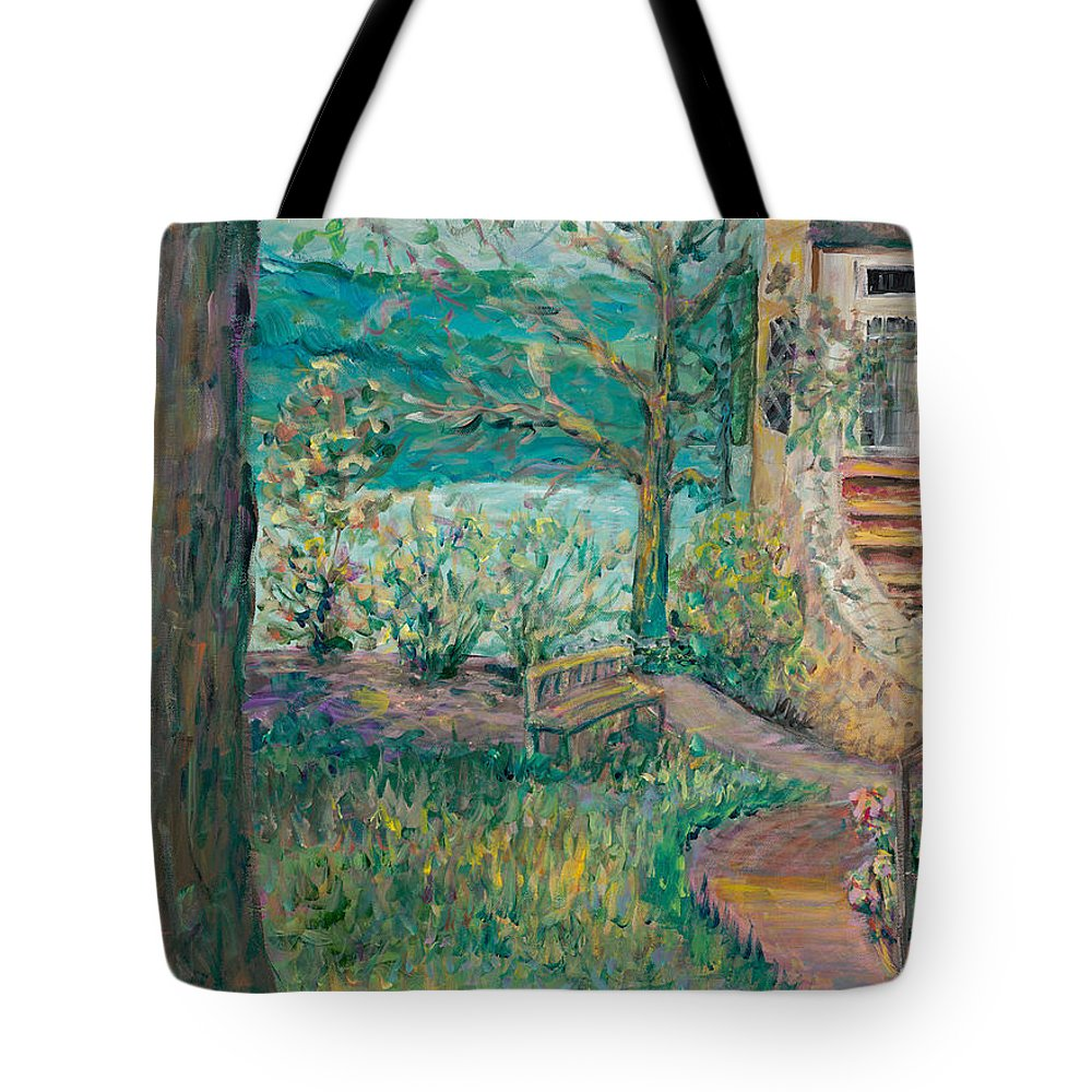 Big Cedar Lodge Tote Bag featuring the painting Worman House At Big Cedar Lodge by Nadine Rippelmeyer