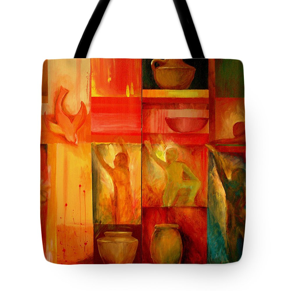 Worship Tote Bag featuring the painting Worship by Jun Jamosmos