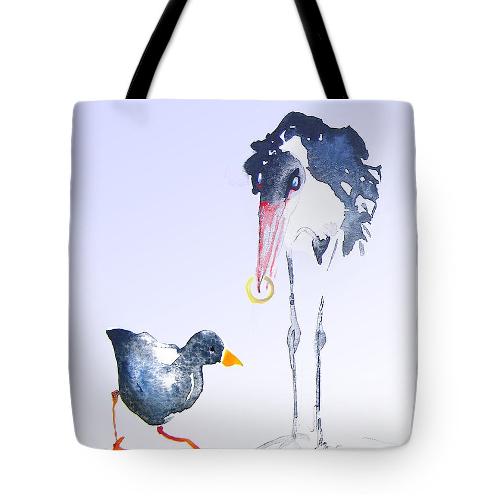 Fun Tote Bag featuring the painting Would You Marry Me by Miki De Goodaboom