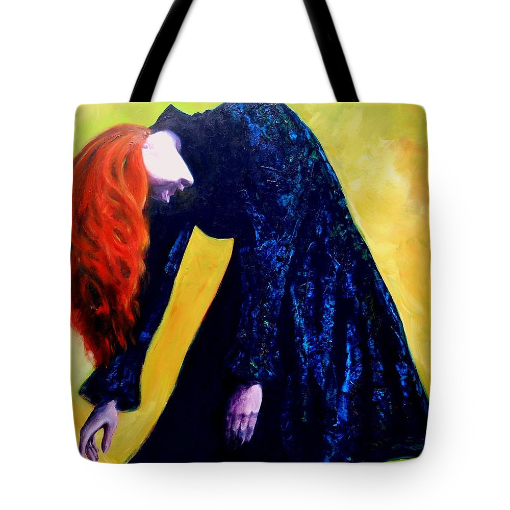 Acrylic Tote Bag featuring the painting Wound Down by Jason Reinhardt