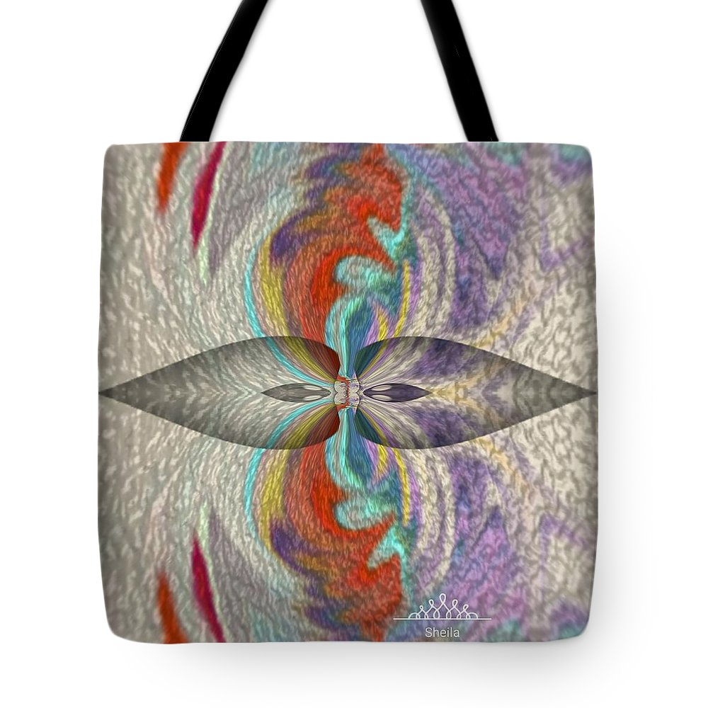 Wrap Art- Sea- Emotionally- Consciousness -intelligent Tote Bag featuring the painting Wrap Oil Art Painting by Sheila Mcdonald