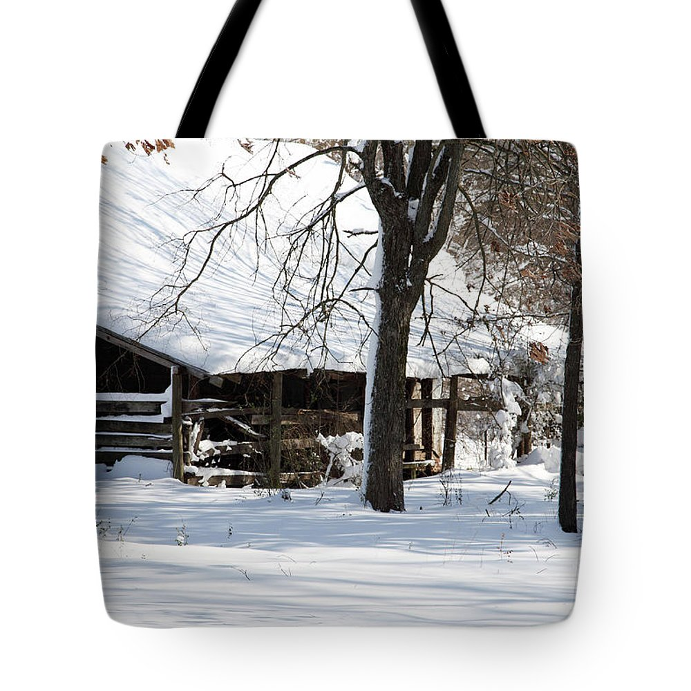 Rural Tote Bag featuring the photograph Wrapped In Silence by Amanda Barcon