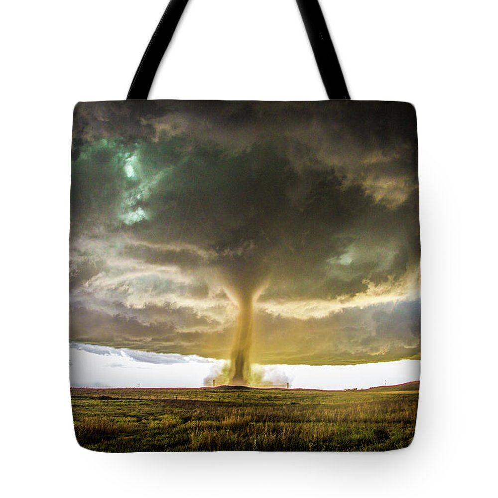 Nebraskasc Tote Bag featuring the photograph Wray Colorado Tornado 070 by NebraskaSC
