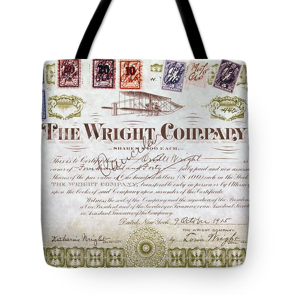 1915 Tote Bag featuring the photograph Wright Brothers, 1915 by Granger