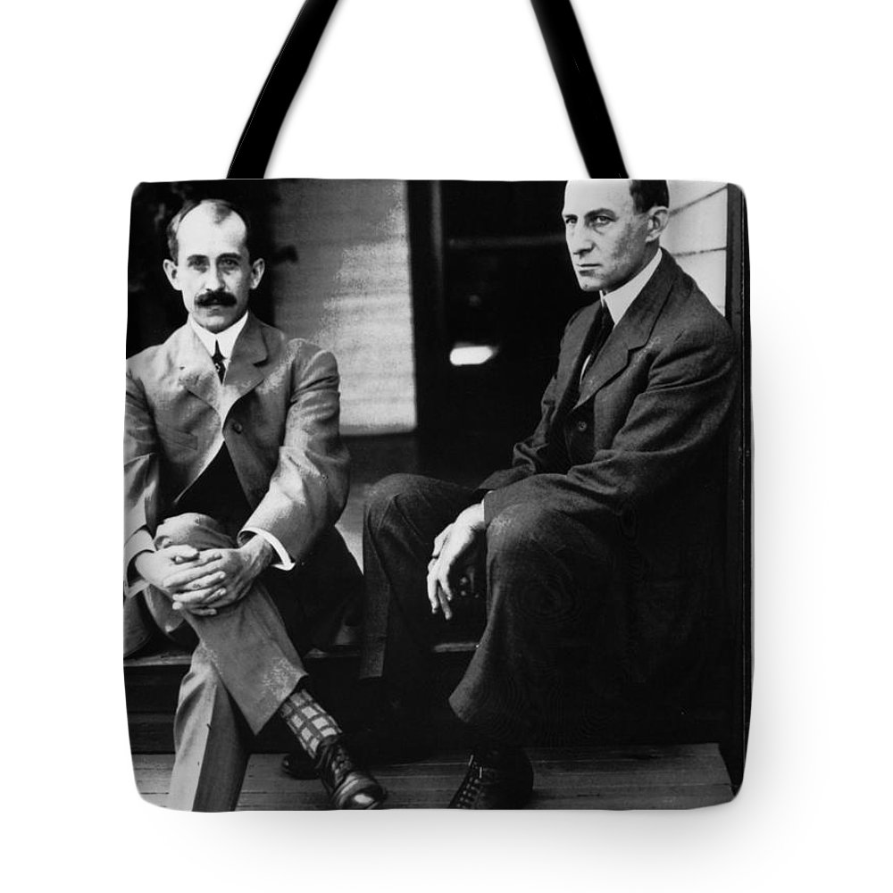 19th Century Tote Bag featuring the photograph Wright Brothers by Granger