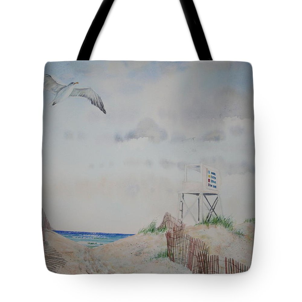 Beach Tote Bag featuring the painting Wrightsville Beach North Carolina by Tom Harris