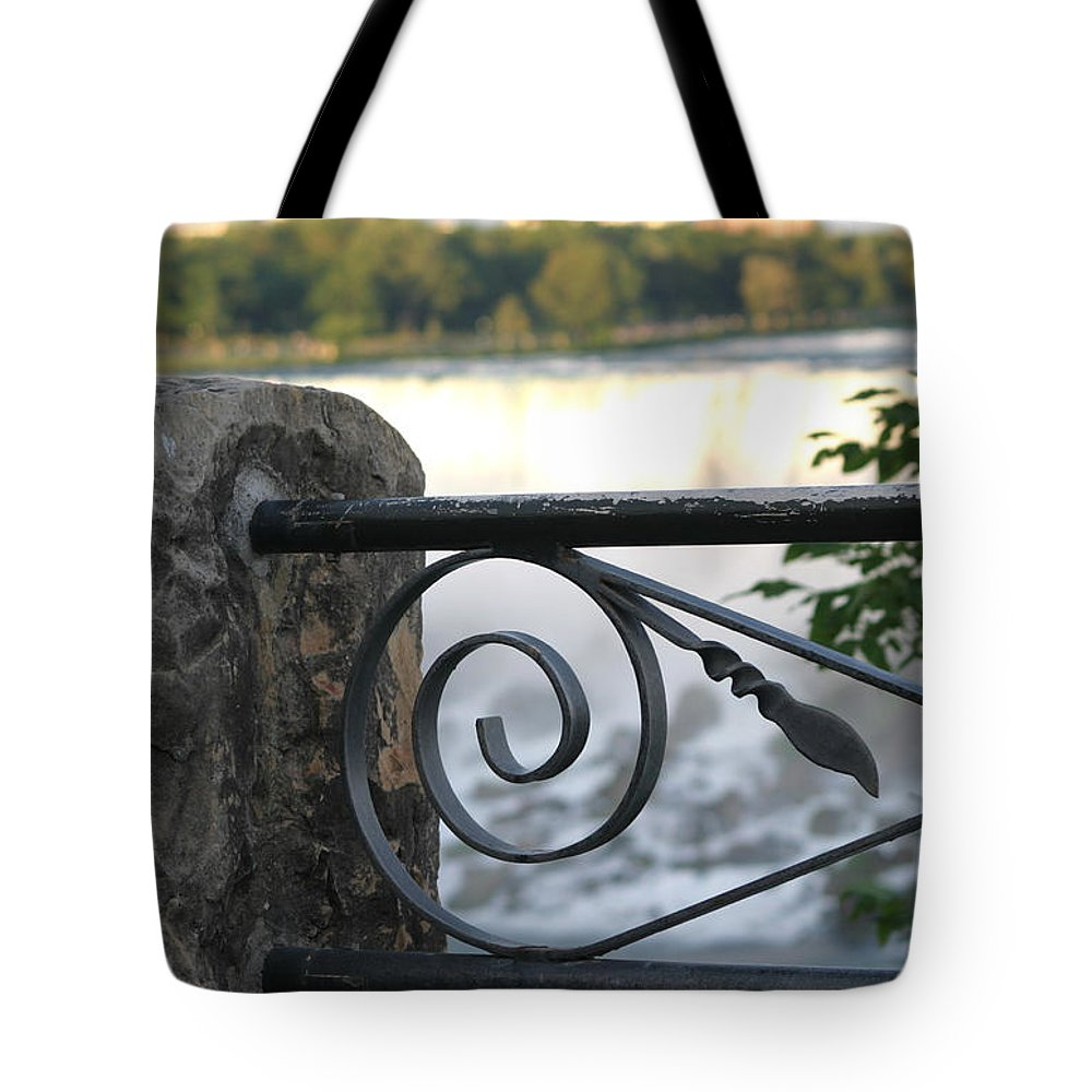 Niagara Falls Tote Bag featuring the photograph Wrought Iron At Niagara Falls by Living Color Photography Lorraine Lynch