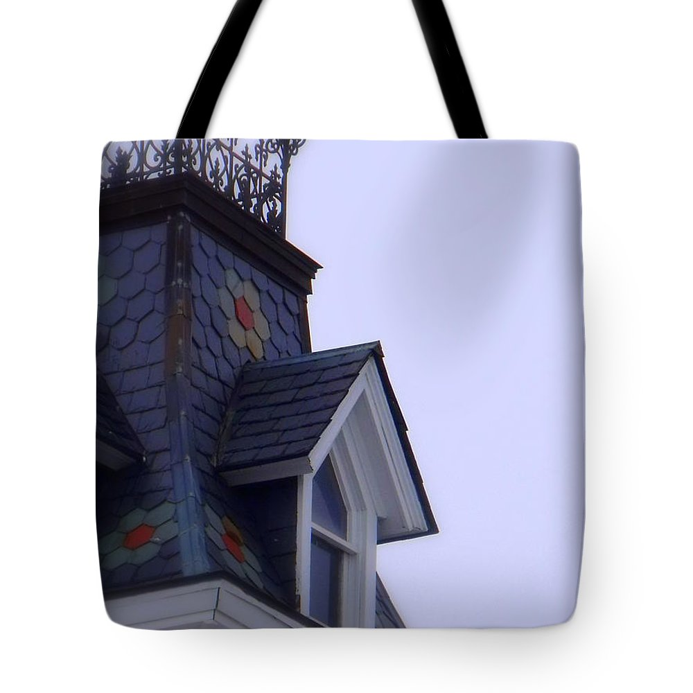 Wrought Iron Antique Roof Top Tote Bag featuring the photograph Wrought Iron Roof Top by Ed Smith