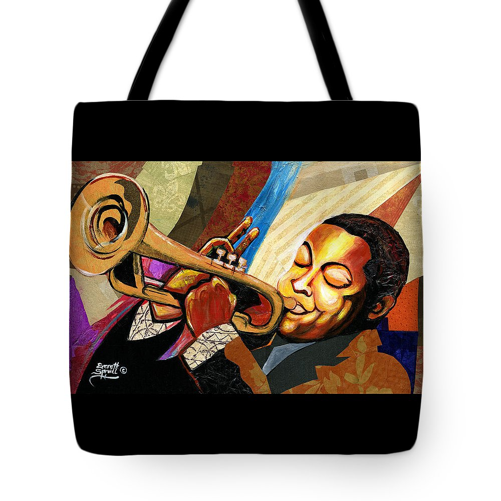Everett Spruill Tote Bag featuring the painting Wynton Marsalis by Everett Spruill