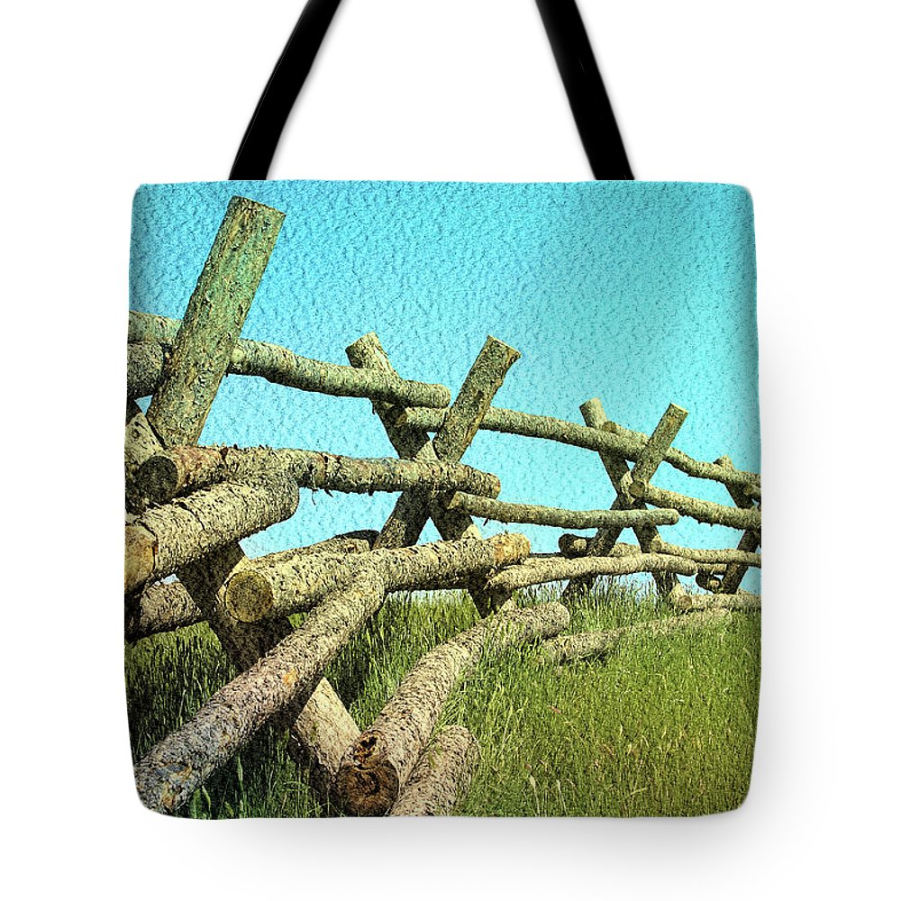 Wyoming Tote Bag featuring the photograph Wyoming Snow Fence by John Freidenberg