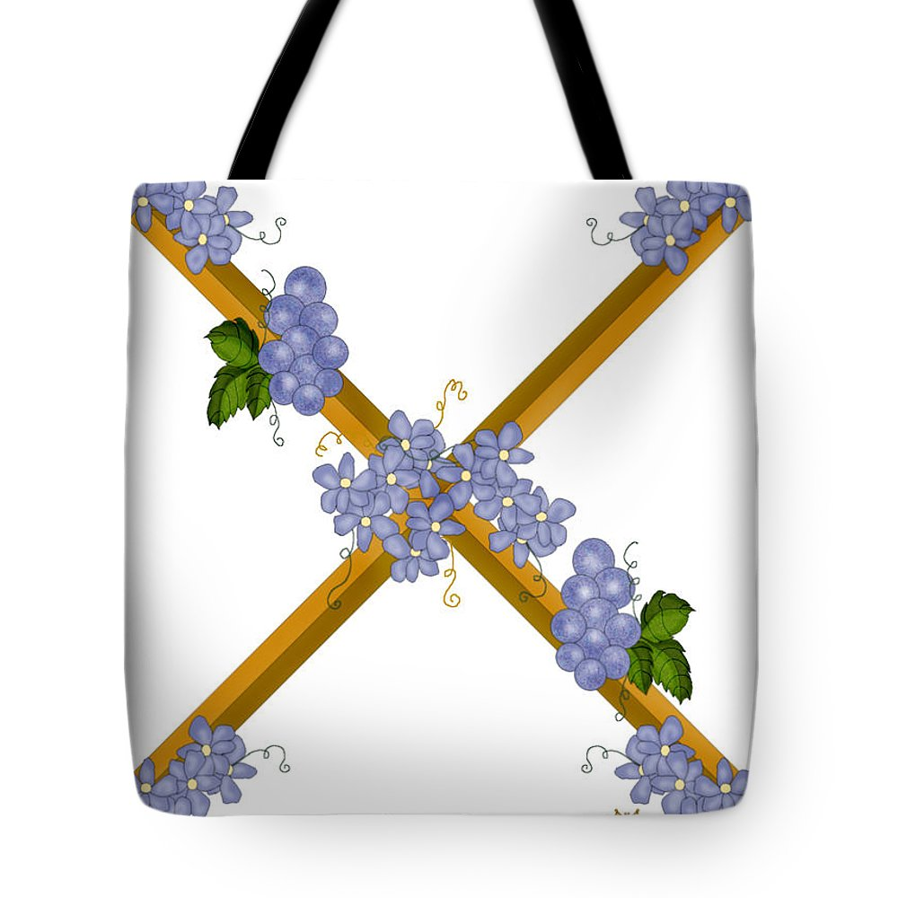 X Tote Bag featuring the painting X Is For Ten by Anne Norskog