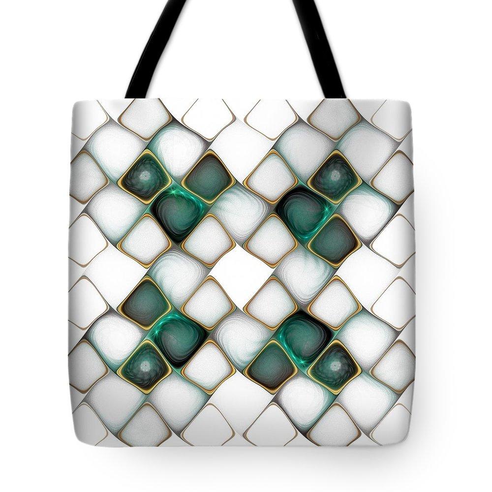 Digital Art Tote Bag featuring the digital art X Marks The Spot by Amanda Moore