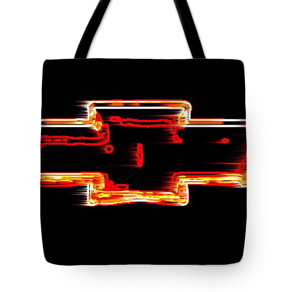Xl Chevy Bowtie Neon Wind Tote Bag