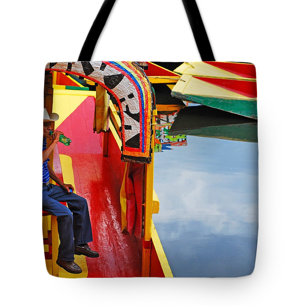 Skip Hunt Tote Bag featuring the photograph Xochimilco by Skip Hunt