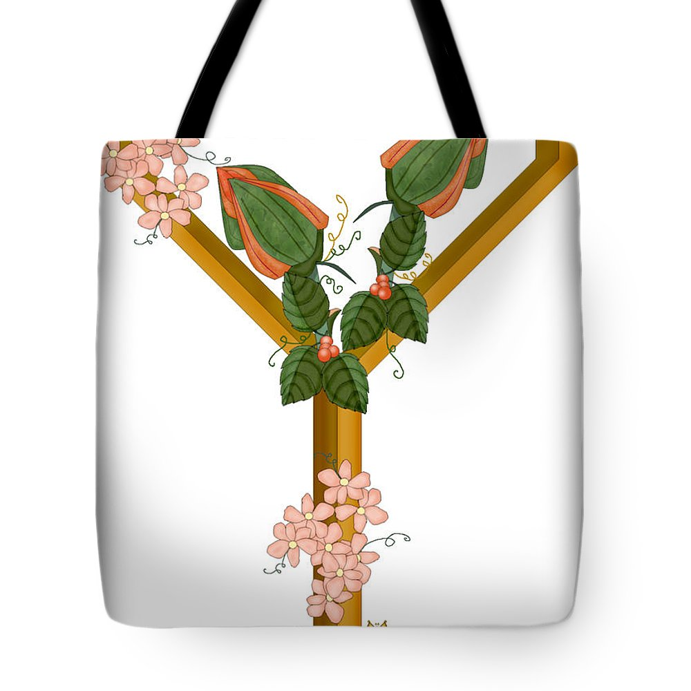 Y Tote Bag featuring the painting Y Is For Yet To Come by Anne Norskog