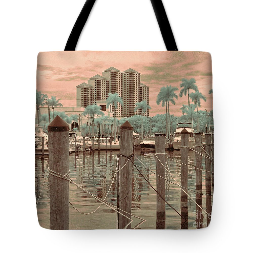 Yacht Basin Tote Bag featuring the photograph Yacht Basin by Peggy Starks