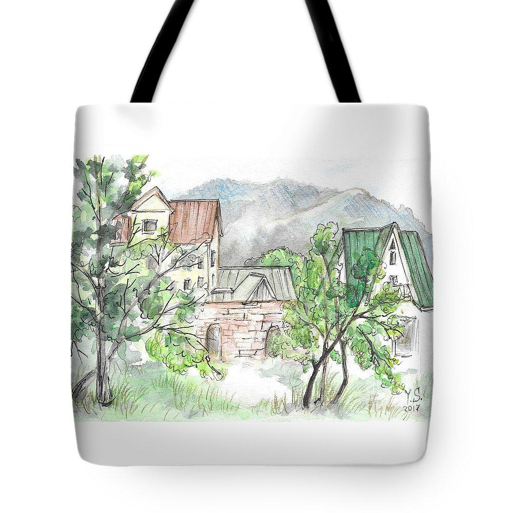 Yakornaja Schel` Tote Bag featuring the painting Yakornaya Schel by Yana Sadykova