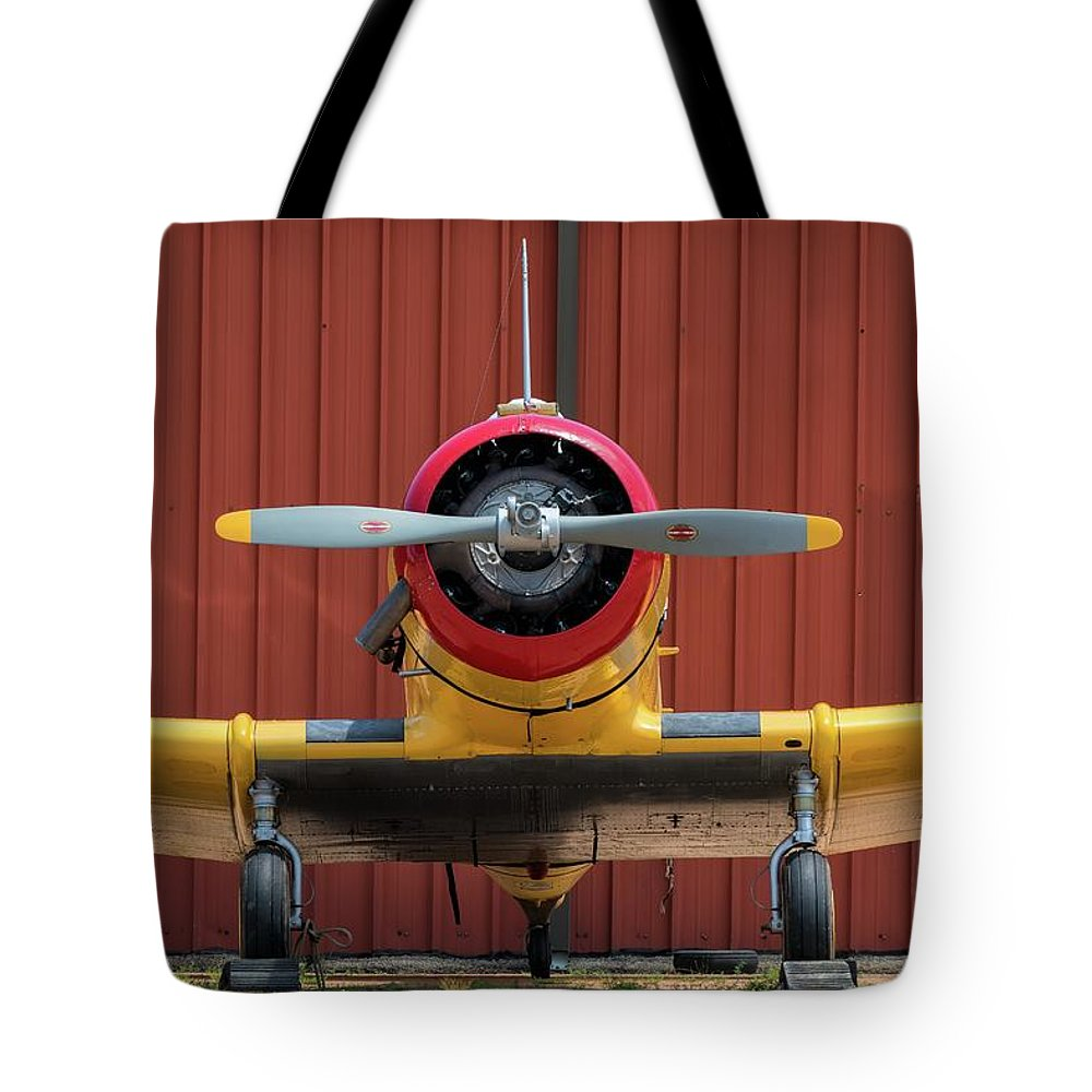 Na64 Tote Bag featuring the photograph Yale And Hangar - 2018 Christopher Buff, Www.aviationbuff.com by Chris Buff