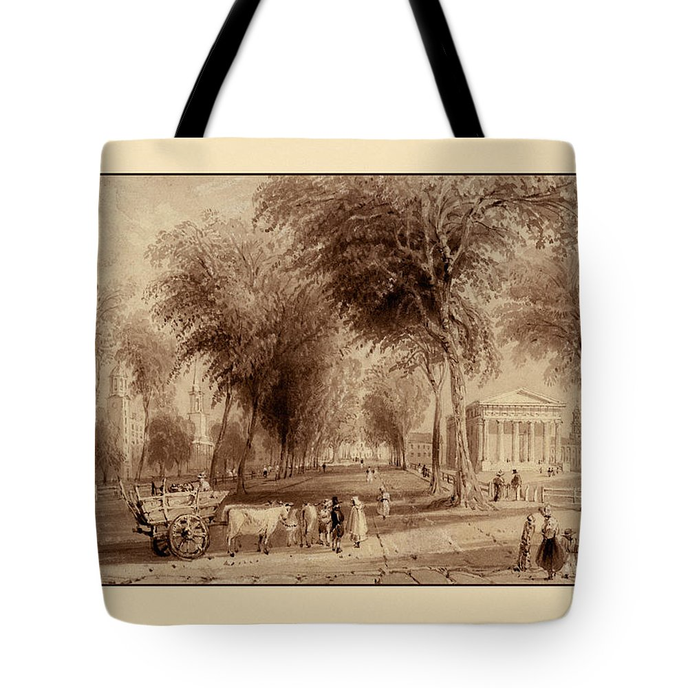 Yale Tote Bag featuring the photograph Yale University 1836 by Andrew Fare