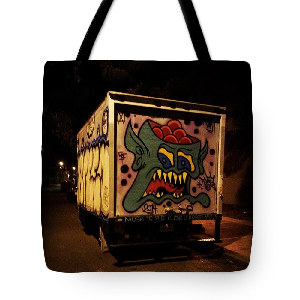Graffitti Art Tote Bag featuring the photograph Yea, Another Night Out On The Town by Mr Photojimsf