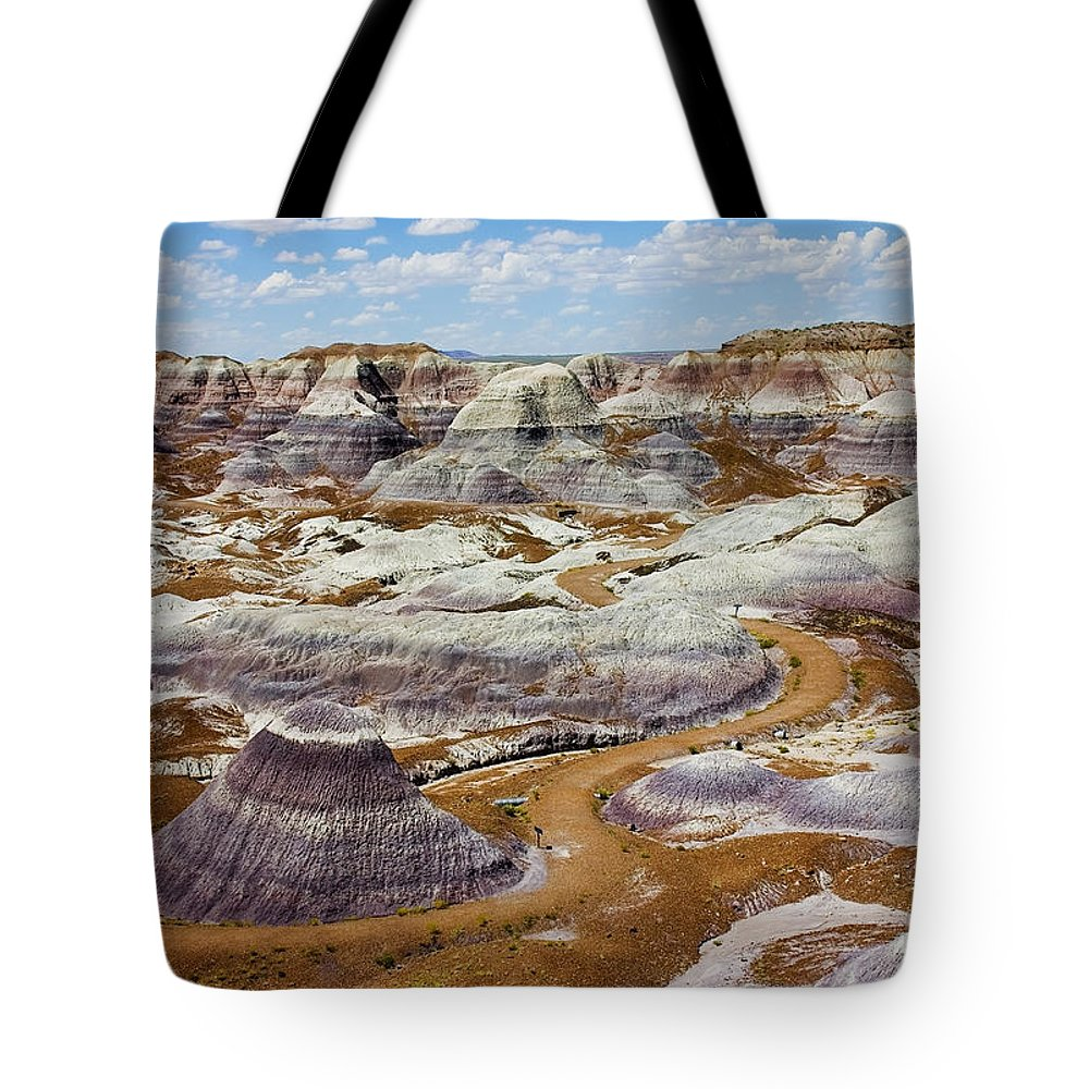 Painted Desert Tote Bag featuring the photograph Yea Though I Walk by Skip Hunt