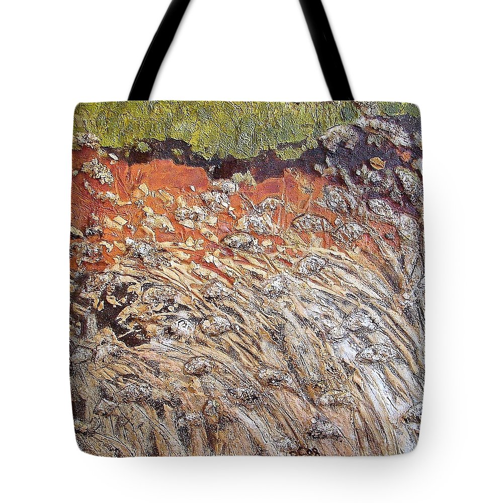 Abstract Tote Bag featuring the painting Yearning by Piety Choi