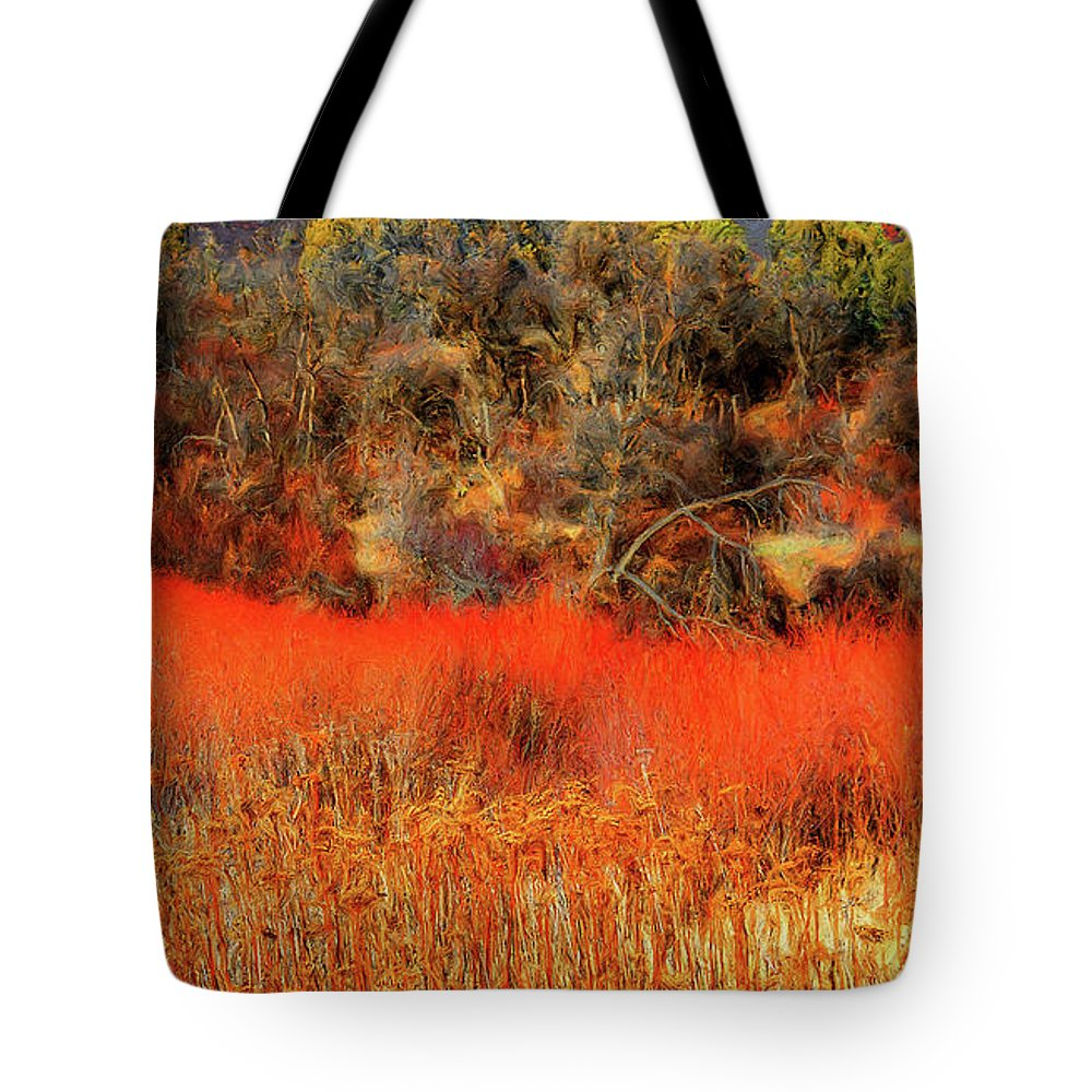 Tote Bag featuring the photograph Yell Fire by Dean Arneson