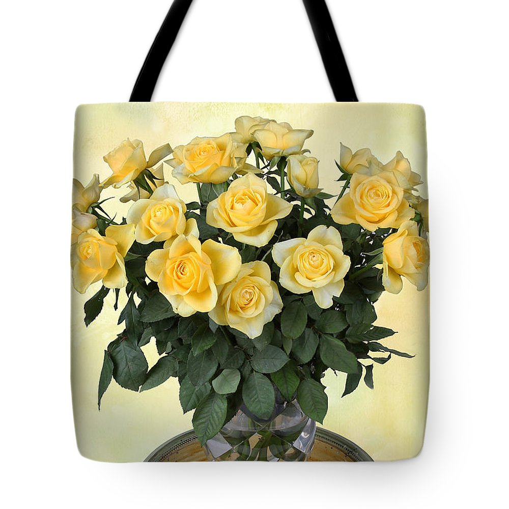 Rose Tote Bag featuring the photograph Yello Roses by Manfred Lutzius