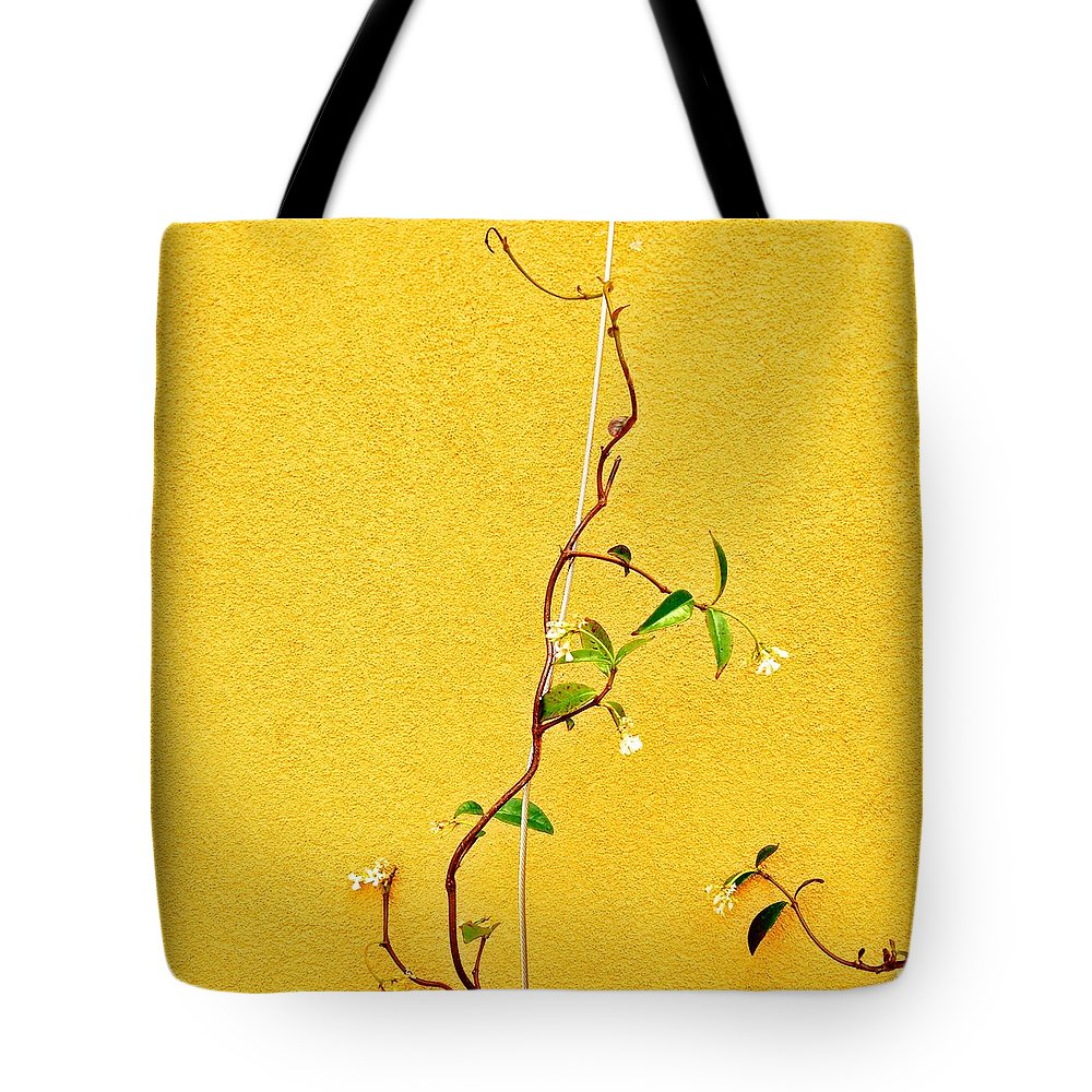 Tote Bag featuring the photograph Yellow #1 by Julie Gebhardt