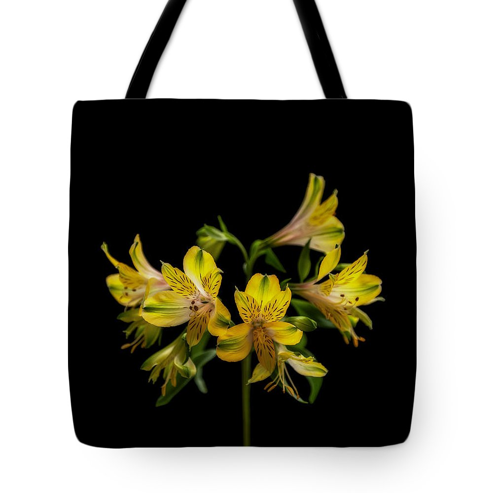 Flower Tote Bag featuring the photograph Yellow by Barbara BM