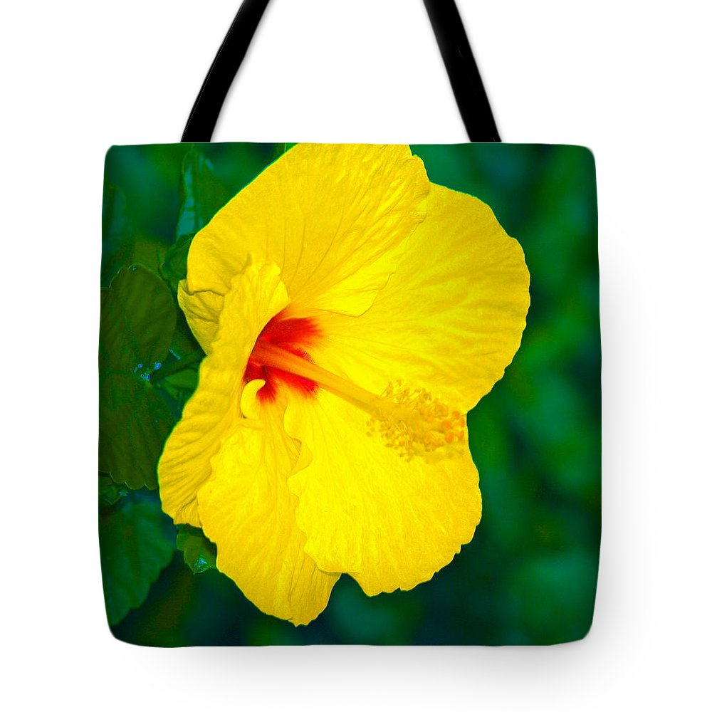 Flower Tote Bag featuring the photograph Yellow Blossom by Athala Carole Bruckner