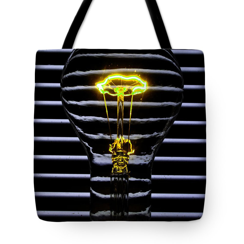 Yellow Tote Bag featuring the photograph Yellow Bulb by Rob Hawkins
