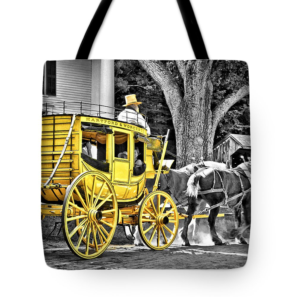 Old Tote Bag featuring the photograph Yellow Carriage by Evelina Kremsdorf