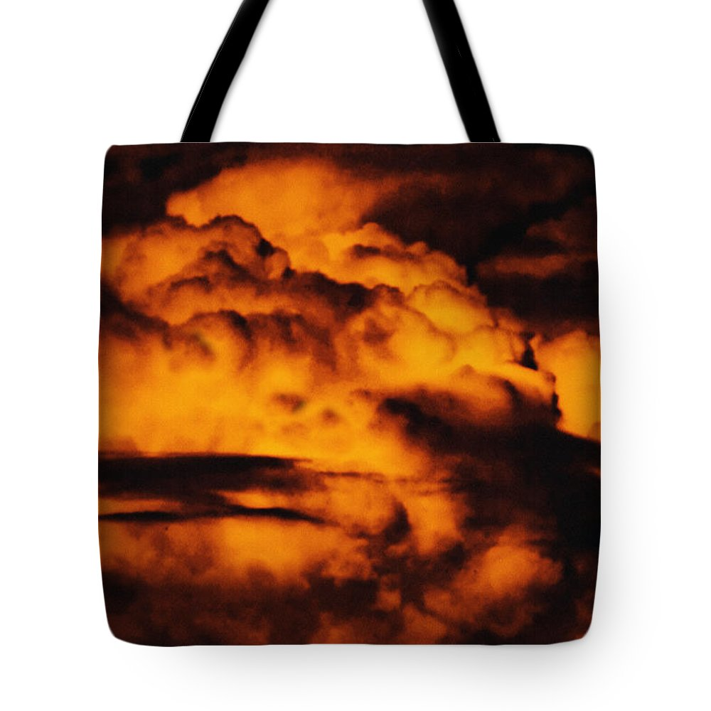 Cloud Tote Bag featuring the digital art Clouds Time by Max Steinwald