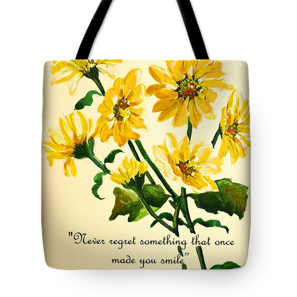 Yellow Daisies Poem Tote Bag For Sale By Karin Dawn Kelshall Best