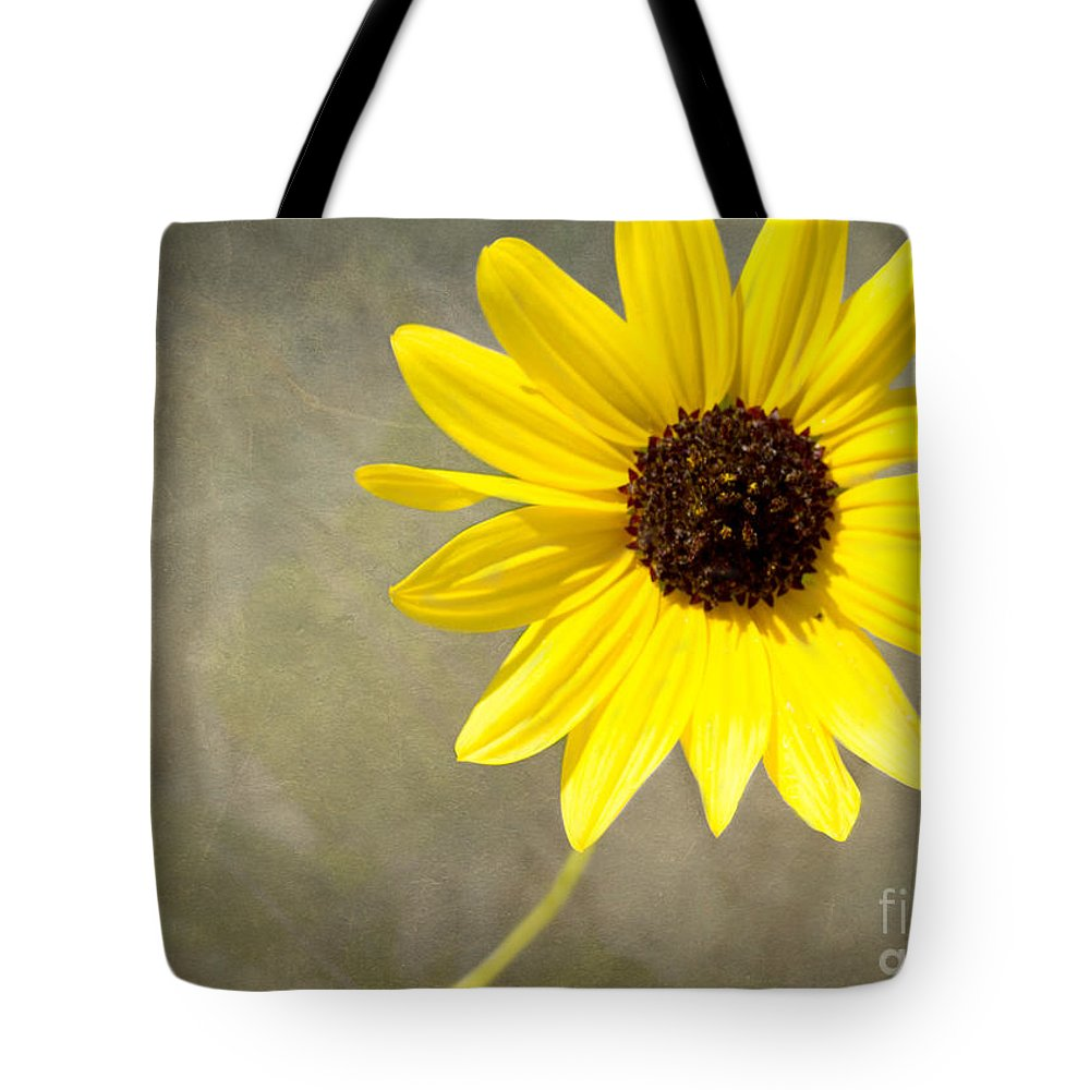 Daisy Tote Bag featuring the photograph Yellow Daisy By Darrell Hutto by J Darrell Hutto