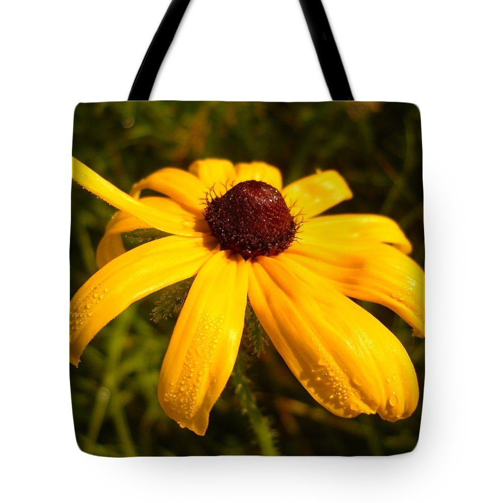 Floral Tote Bag featuring the photograph Yellow Flower Good Morning by Kent Lorentzen