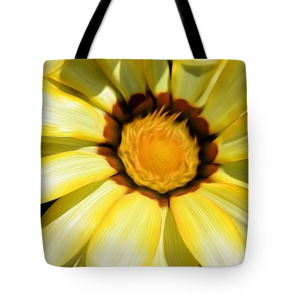 Yellow Tote Bag featuring the photograph Yellow Flower In The Sun by Susan Jacob