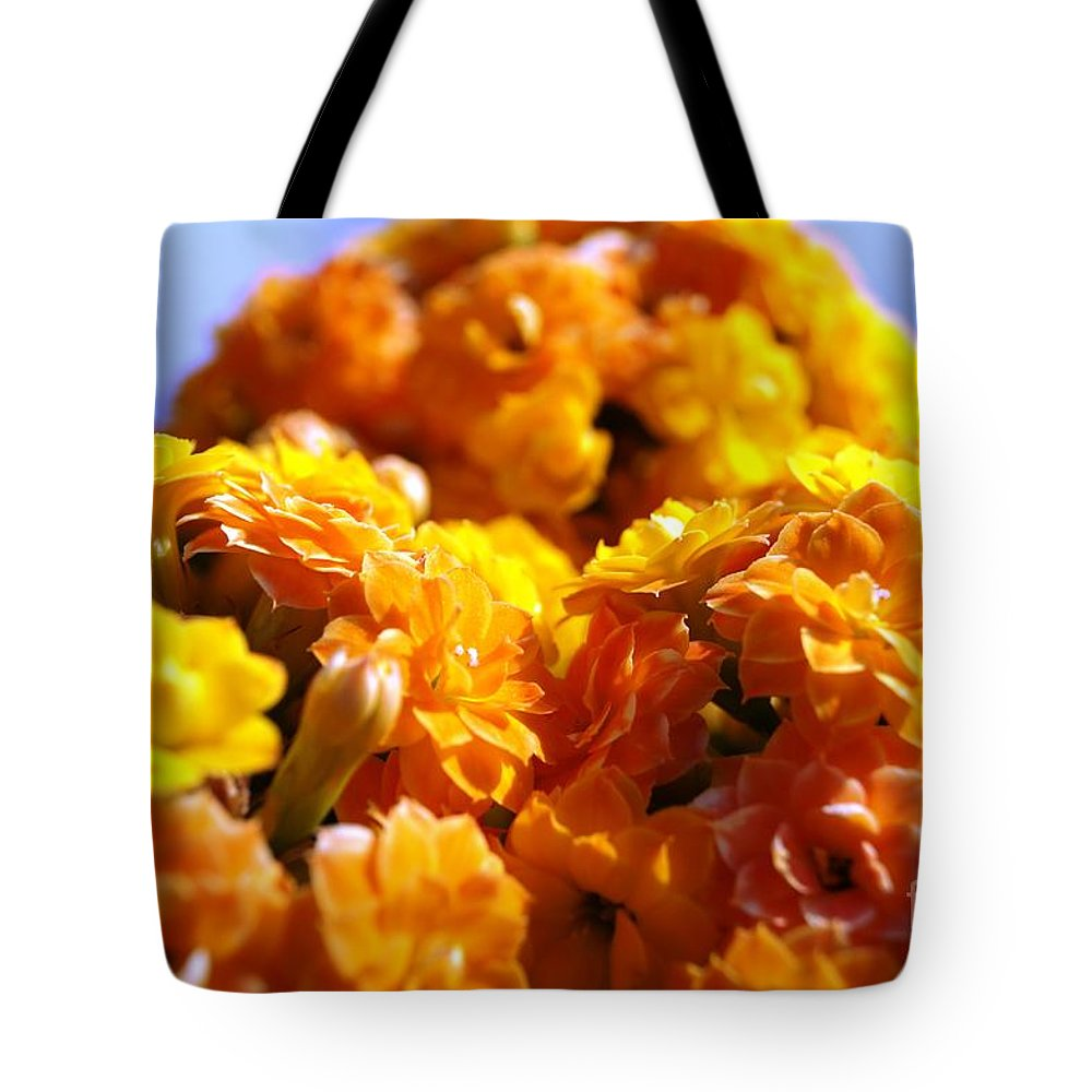 Landscape Tote Bag featuring the photograph Yellow Flowers by Kenneth Hayes