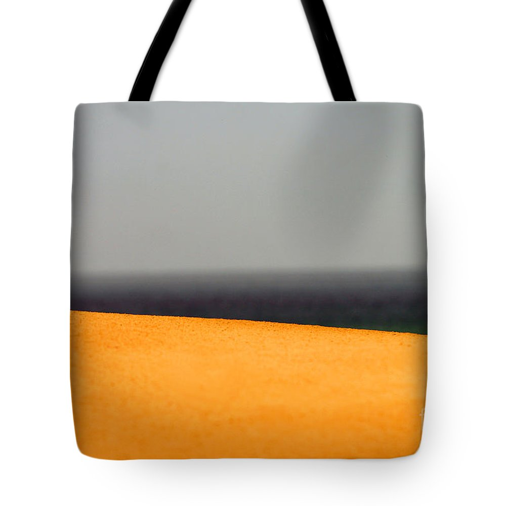 Yellow Tote Bag featuring the photograph Yellow Horizon by Hana Shalom