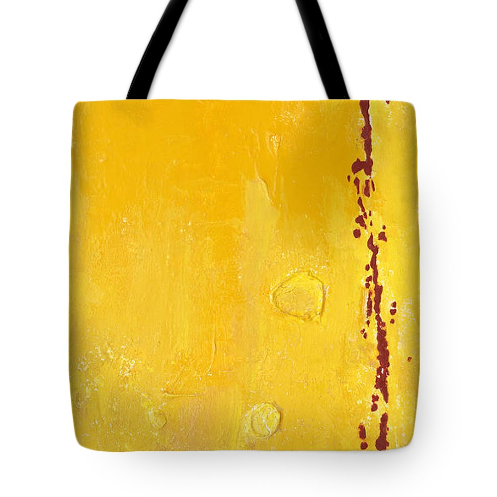 Mixed Media Tote Bag featuring the mixed media Yellow by Jaime Becker