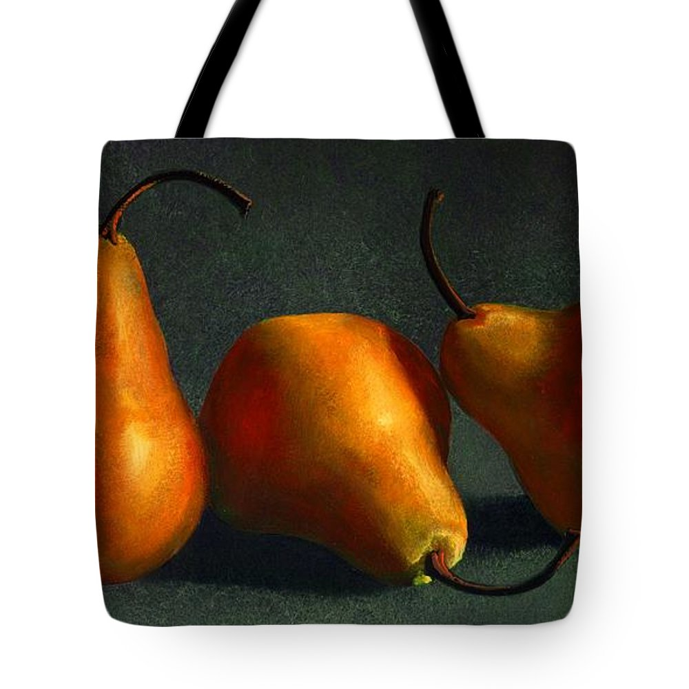 Still Life Tote Bag featuring the painting Yellow Pears by Frank Wilson