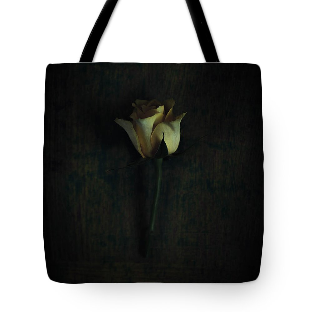 Rose Tote Bag featuring the photograph Yellow Rose by Kate Morton