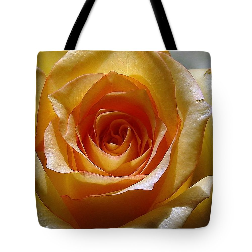 Rose Yellow Tote Bag featuring the photograph Yellow Rose by Luciana Seymour