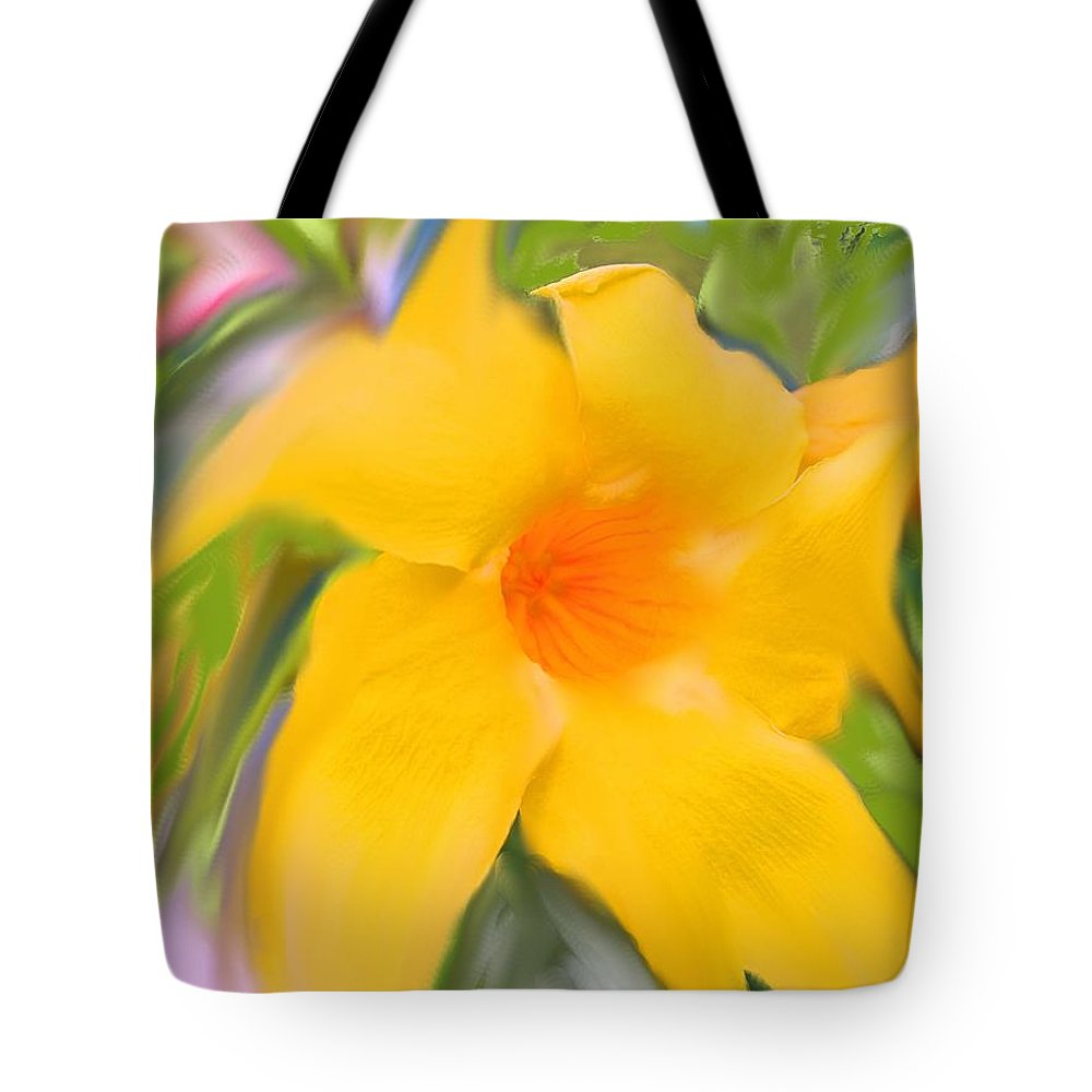 Yellow Tote Bag featuring the photograph Yellow Stretch by Ian MacDonald