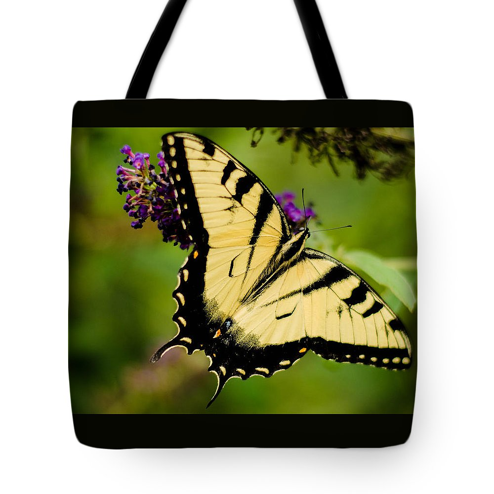Butterfly Tote Bag featuring the photograph Yellow Swallowtail by Bruce Pritchett