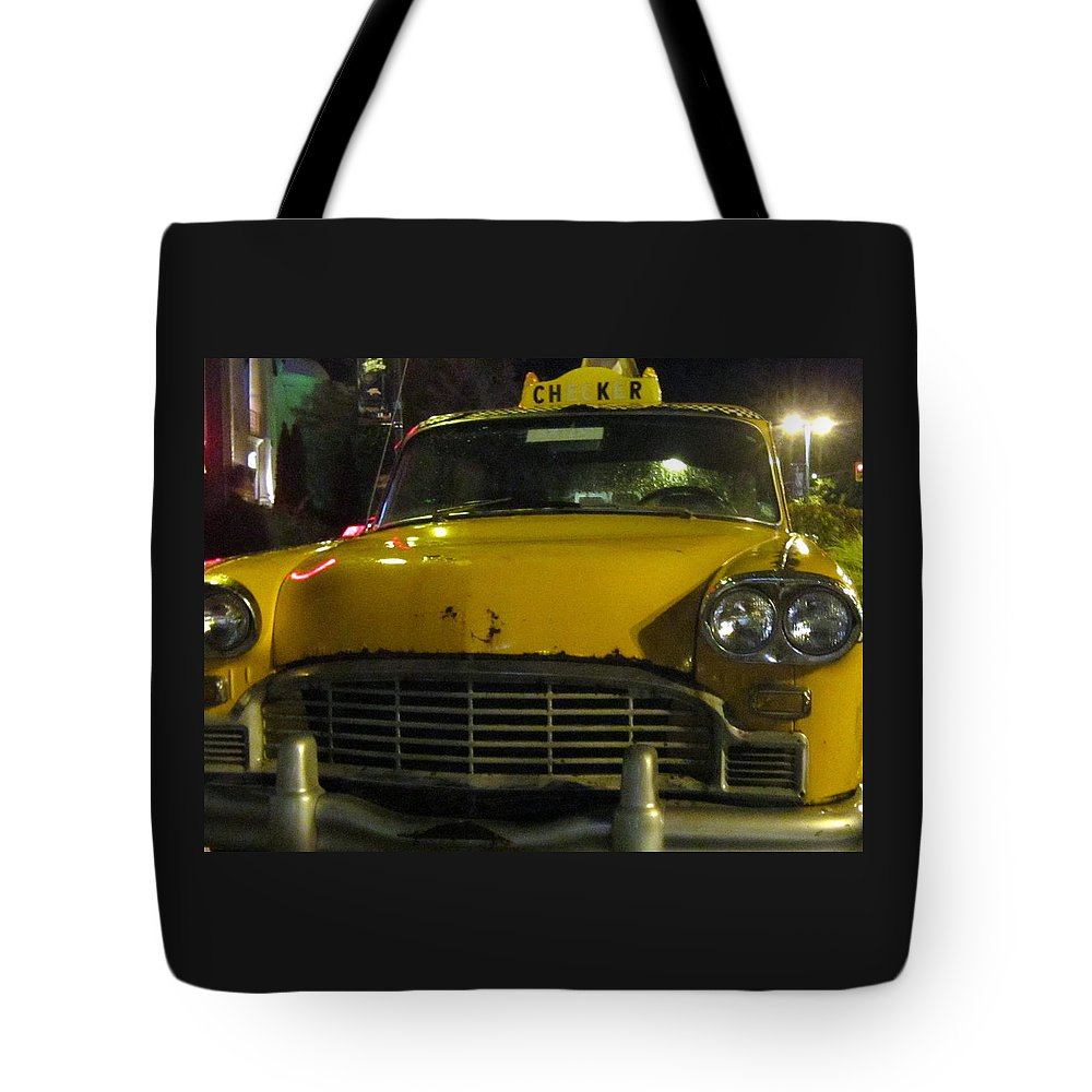 Yellow Tote Bag featuring the photograph Yellow Taxi by Abby Humphries