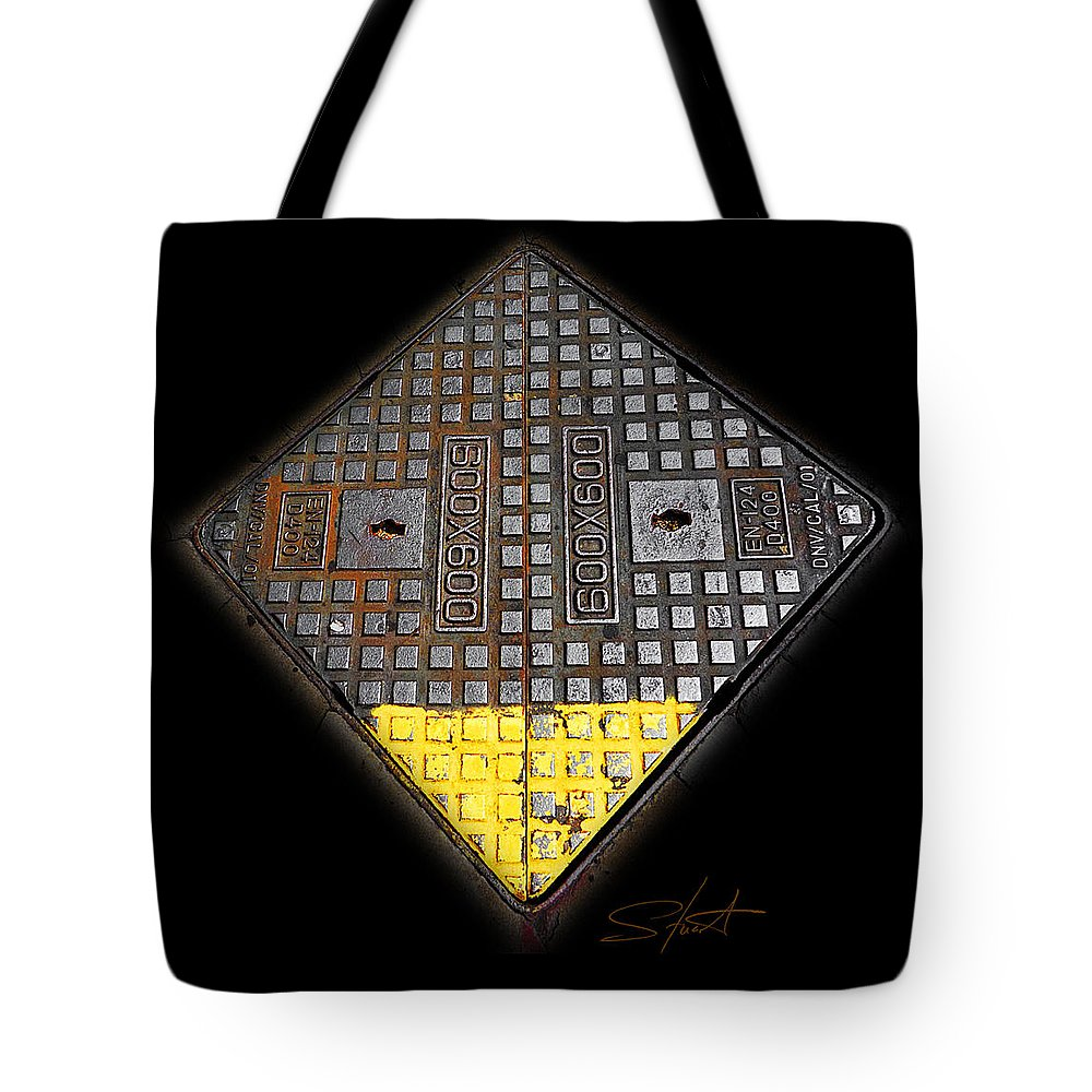 Diamond Tote Bag featuring the photograph Yellow Tip by Charles Stuart